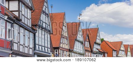 Panorama Of Rooftops In The Historic Center Of Celle
