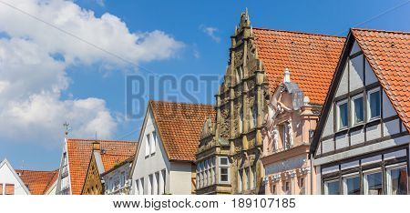 Panorama Of Facades At The Central Market Square Of Stadthagen