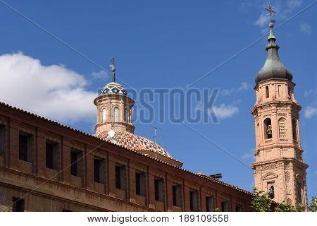 Bell tower of San Juan el Real Calatayud Zaragoza provinceSpain