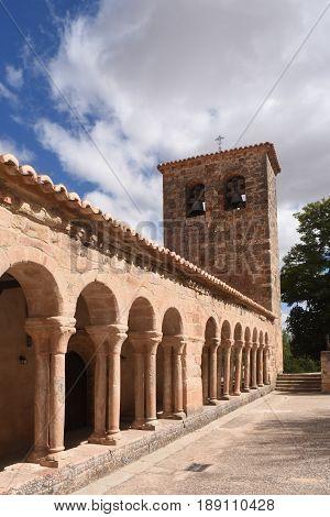 Romanesque church of San Salvador de Carabias Siguenza Guadalajara province Castilla La Mancha Spain