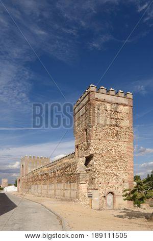 Walls of Madrigal de las Altas Torres Avila province Spain