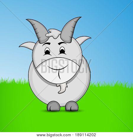 illustration of goat on occasion of Eid Ul Adha Mubarak
