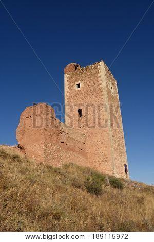 Tower of San Cristobal walls (S. XIV )Daroca. Zaragoza province Aragon Spain