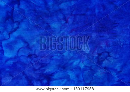 Dyed blue textile stain cloth background pattern