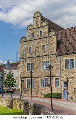 STADTHAGEN, GERMANY - MAY 22, 2017: Side wing of the Stadthagen castle in Germany