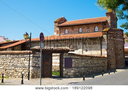 Church of St. Stephen in old town of Nessebar Bulgaria