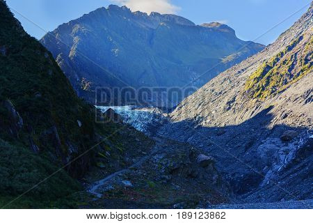 Fox Glacier / Te Moeka o Tuawe Valley Walk is located in Westland Tai Poutini National Park on the West Coast of New Zealand's South Island