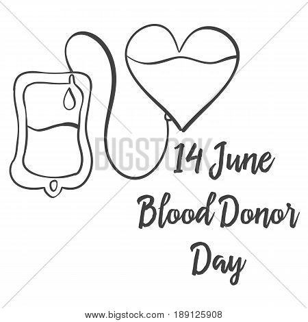 Collection stock hand draw blood donor day vector art