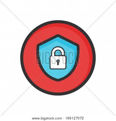 password icon. line art - vector eps 10