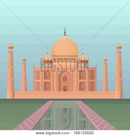 Taj mahal culture architecture - vector eps 10