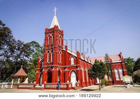 St. Mary Church In Pyin Oo Lwin, Myanmar