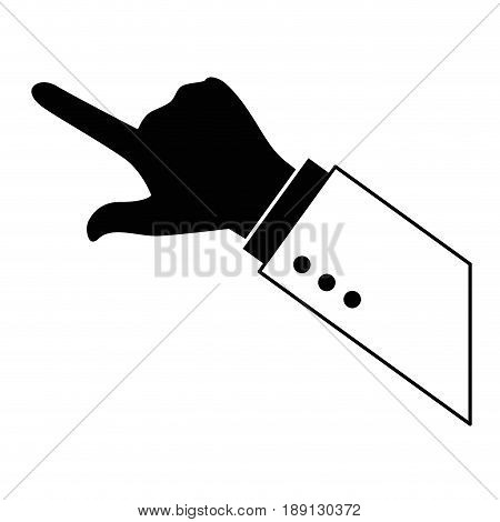 hand pointing gesture vector icon illustration graphic design