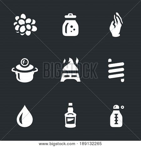 Berry, flask, glove, saucepan, burner, spiral, drop, bottle, thermometer.
