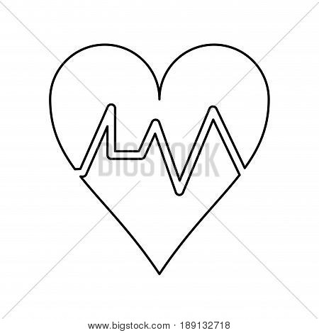 heart cardiogram icon image vector illustration design