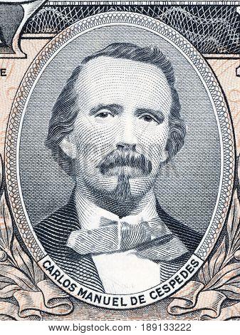 Carlos Manuel de Cespedes portrait from Cuban money