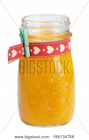 Refreshing Fruit Smoothies. A Refreshing Drink For Children, Decorated With A Ribbon And A Decorativ
