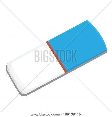 Illustration of eraser on white background, education concept. Isolated Vector.
