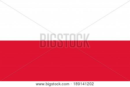 Flag of Poland, vector illustration Official symbol of the country