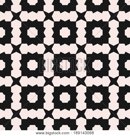 Vector seamless texture, deco art pattern. Monochrome illustration, simple angled geometric shapes background texture. Abstract black & white background repeat tiles. Design element for prints seamless pattern, cover, furniture background texture.