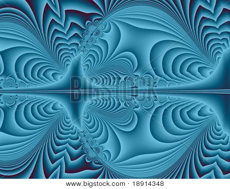 fractal pattern background in blue tones