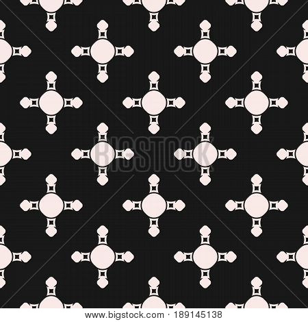 Vector seamless pattern, abstract geometric background, simple crossing figures circles smooth squares texture. Dark monochrome endless background repeat tiles. Design for prints seamless pattern, decor abstract background, fabric, textile.
