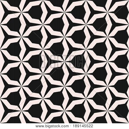 Geometric monochrome texture, vector seamless pattern, simple shapes angular figures triangular grid background. Abstract contrast repeat background. Design for prints, covers, decoration seamless pattern, textile background, digital.