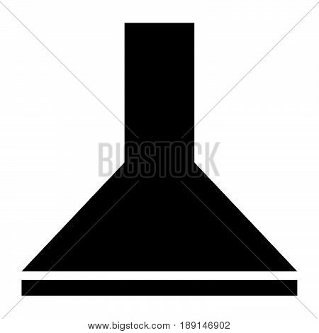 Exhaust Hood  The Black Color Icon .