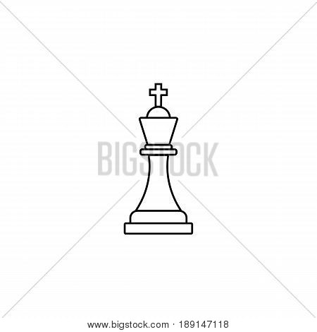 Tactical Advantage line icon, Business Strategy and chess figure, vector graphics, a linear pattern on a white background, eps 10.