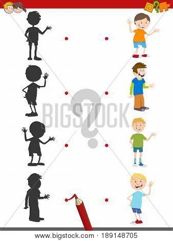 Cartoon Shadow Activity With Kids