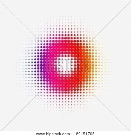 Halftone Colorful Torus for web or Print. Vector Illustration