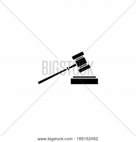 Judge gavel solid icon, auction hammer sign, vector graphics, a filled pattern on a white background, eps 10.