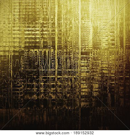 Grunge texture or background with retro design elements and different color patterns: yellow (beige); brown; gray; black