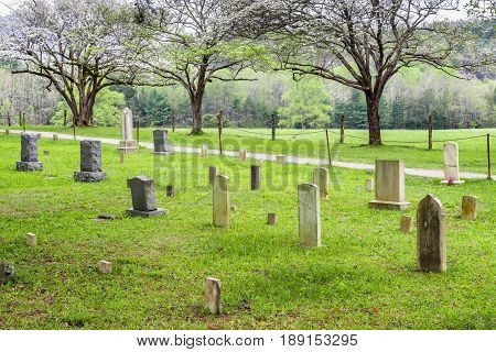 An old cemetery in the Cades Cove section of the Great Smoky Mountains National Park