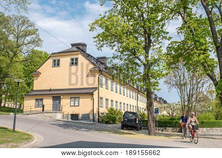 STOCKHOLM, SWEDEN - MAY 21. 2017: Skeppsholmen island in Stockholm. The capital city of Sweden is built on 17 islands.