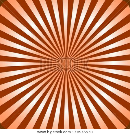 classical, retro style sunburst with a 3d effect