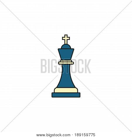 Tactical Advantage solid icon, Business Strategy and chess figure, vector graphics, a colorful linear pattern on a white background, eps 10.
