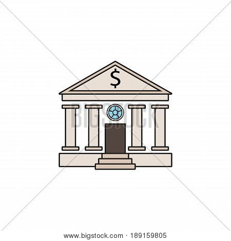 Bank building solid icon, banking house, vector graphics, a colorful linear pattern on a white background, eps 10.
