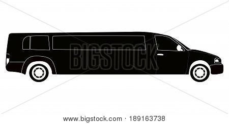 Isolated Limousine Silhouette