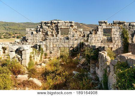 Granary Horreum In Ancient Lycian City Patara. Turkey