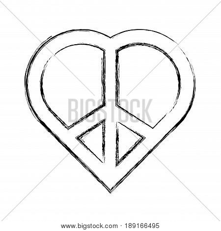 Peace and love symbol icon vector illustration  graphic  design