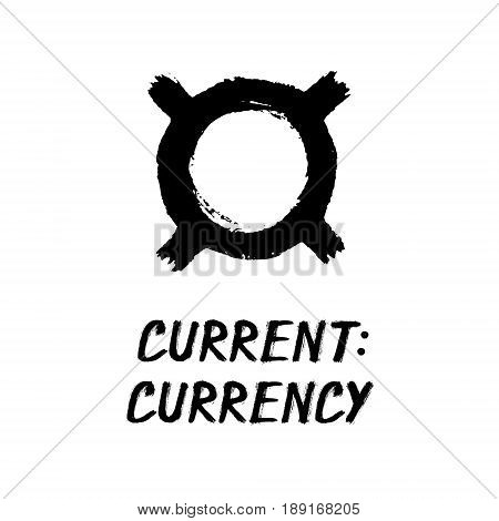 Currency - Black Grunge Sign - Current