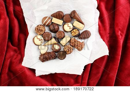 A Lot Of Variety Chocolate Pralines