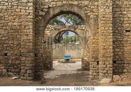 Gate to the ancient fortified city of Harar, Ethiopia