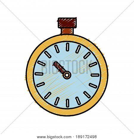 chronometer icon over white background. vector illustration