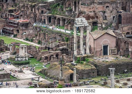 Panorama of the Roman Forum Foro Romano and Ruins