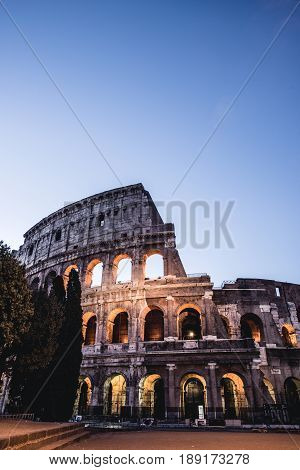 Colosseum in Rome in the night, Italy