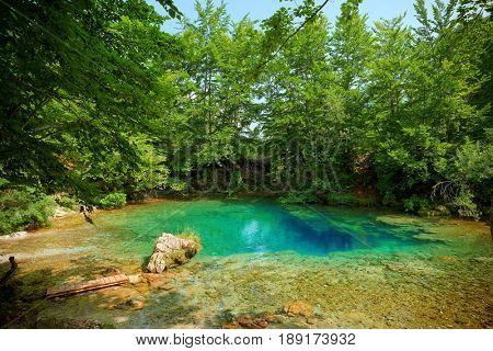 water spring blue eye In Montenegro