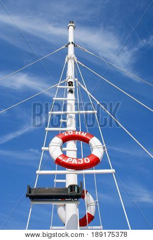 Ring-buoy and blue sky Herceg Novi, Montenegro