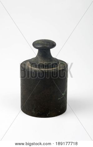 the old weight isolated on white background