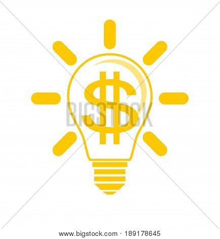 Idea to make money . Stock vector illustration for poster, greeting card, website, ad, business presentation, advertisement design.